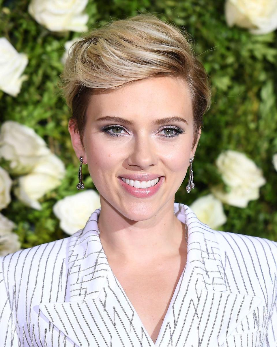 <p>A thick, volumized top—that isn't snipped too short—is key to imitating Scarlett Johansson's tousled pixie.</p>
