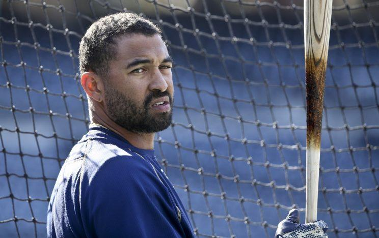 Matt Matt Kemp'is leaving San Diego behind after putting his 11.5M Poway mansion up for auction. (AP)