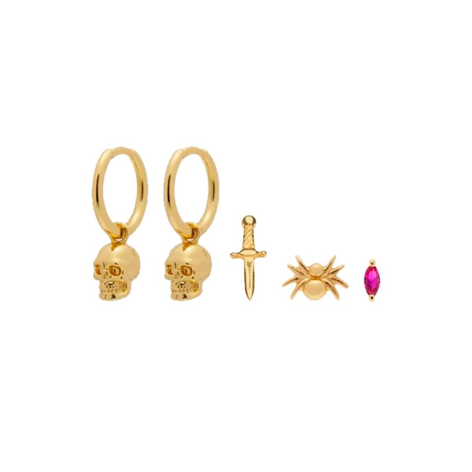 """The perfect gift for your teenage cousin with the enviable ear party. $110, Studs. <a href=""""https://studs.com/collections/new-arrivals/products/halloween-starter-pack?variant=39597580976237"""" rel=""""nofollow noopener"""" target=""""_blank"""" data-ylk=""""slk:Get it now!"""" class=""""link rapid-noclick-resp"""">Get it now!</a>"""
