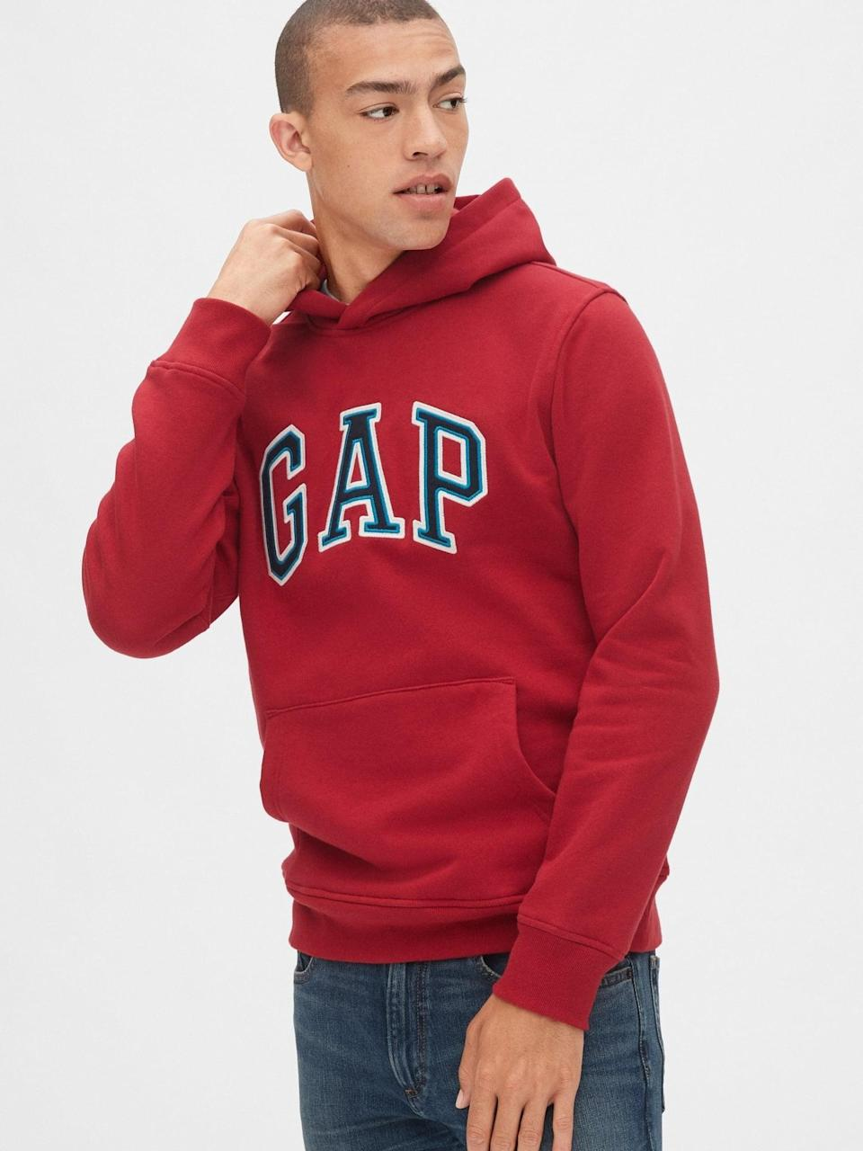 <p>Or try my nephew's style with with this <span>Gap Arch Logo Hoodie</span> ($47, originally $60)!</p>