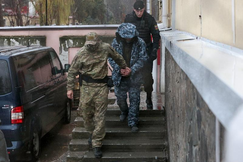 Ukraine took the issue to the tribunal last month -- but Moscow does not recognise its jurisdiction and did not send any representatives (AFP Photo/STR)