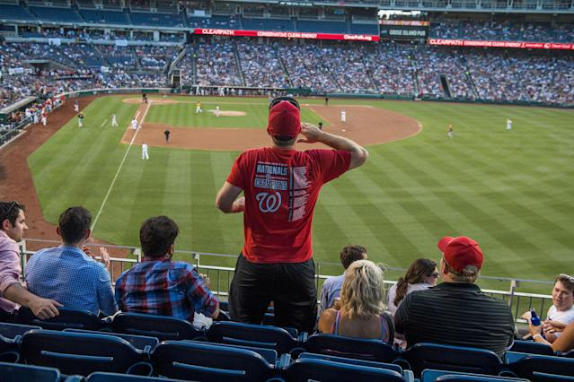 <p>Fans watch the 56th Congressional Baseball Game at Nationals Park on June 15, 2017. (Photo: Tom Williams/CQ Roll Call/Getty Images) </p>