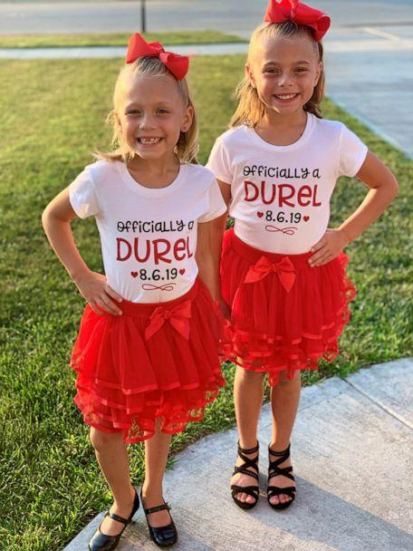PHOTO: Sisters Mariah, 10, and Aubree, 7, were formally adopted by the Durels on August 6, 2019. (Calena Durel)