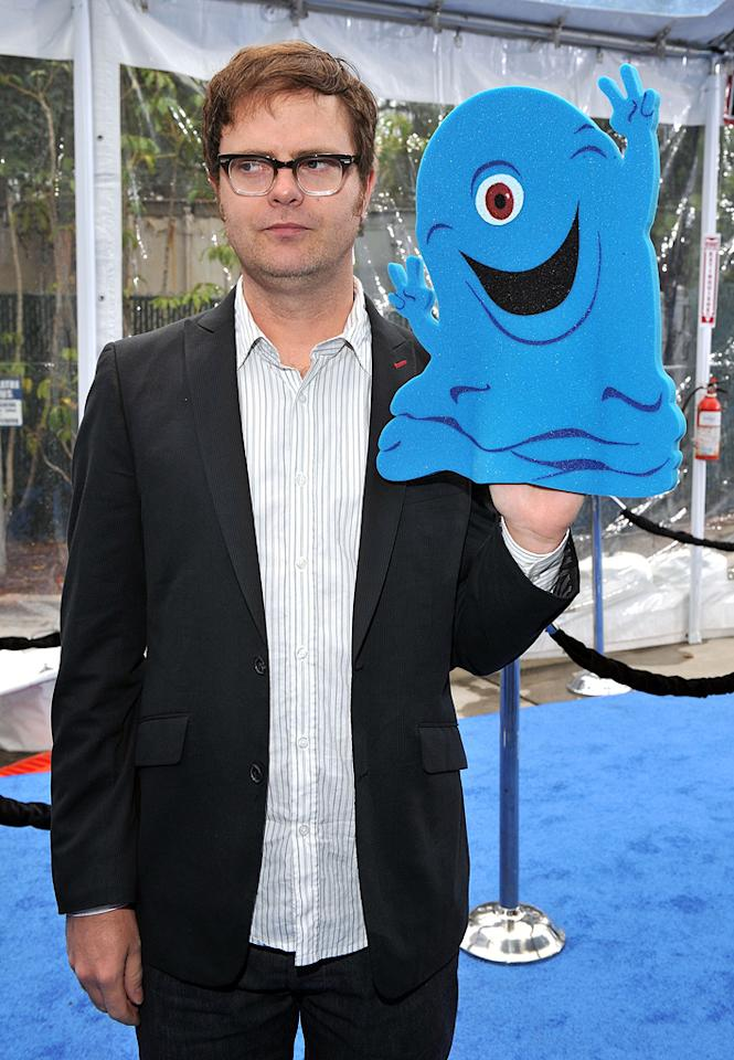 "<a href=""http://movies.yahoo.com/movie/contributor/1804471845"">Rainn Wilson</a> at the Los Angeles premiere of <a href=""http://movies.yahoo.com/movie/1809918074/info"">Monsters vs. Aliens</a> - 03/22/2009"