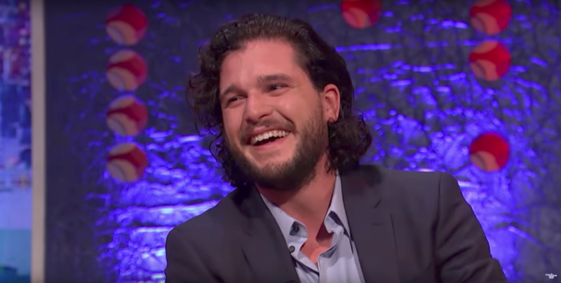 Someone thought it was funny: Kit Harington,who recently proposed to his former co-star,said he received a stern warning from her to never do it again. (The Jonathan Ross Show)