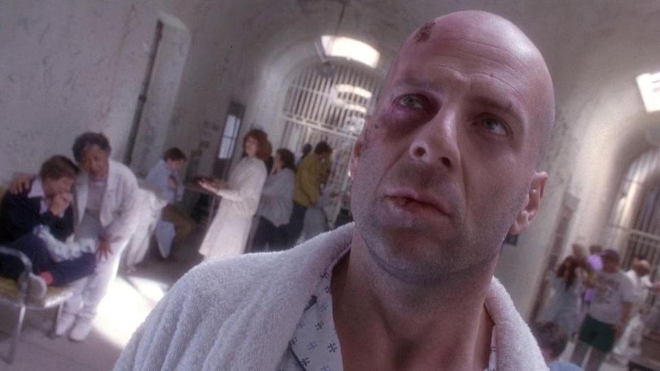 <p> What would the authorities do with a man claiming to be a time-traveller? Lock him up in an asylum, of course. This is the unfortunate scenario put forth in 12 Monkeys and faced by James Cole (Bruce Willis), a survivor from a post-apocalyptic future wherein a hideous virus has ravaged the face of the planet. </p> <p> Terry Gilliam's dystopian future may be terrifying, but electric performances from both Willis and a young Brad Pitt – playing an unstable activist – makes this a thrilling watch. Gilliam certainly has a knack for exquisite put together sci-fi. </p>