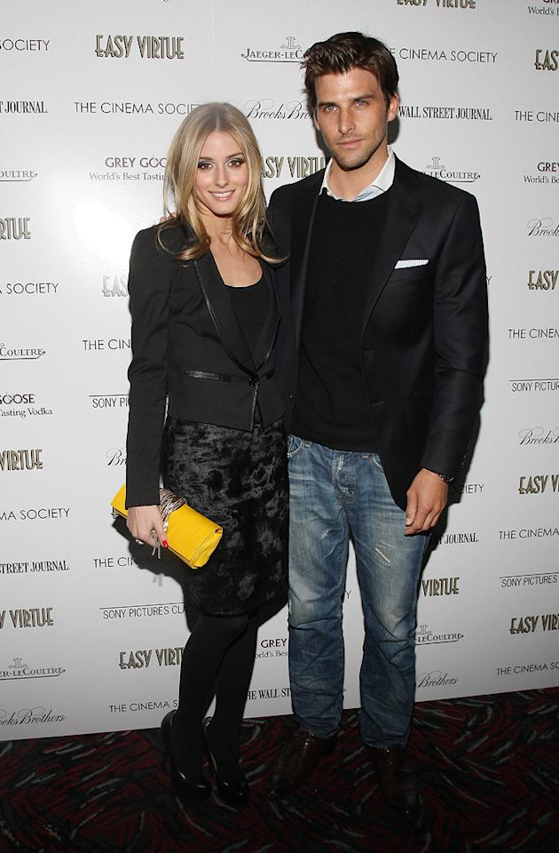 "Olivia Palermo and Johannes Huebel at the New York Cinema Society screening of <a href=""http://movies.yahoo.com/movie/1809765397/info"">Easy Virtue</a> - 05/11/2009"