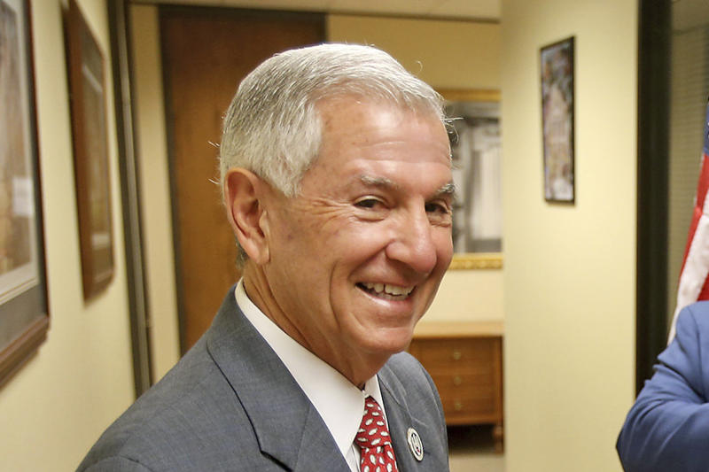FILE - In this Aug. 6, 2019, file photo, gubernatorial candidate Eddie Rispone arrives at the Louisiana Secretary of State's office in Baton Rouge, La. Louisiana's Democratic governor, John Bel Edwards, moved quickly to expand Medicaid when he took office in 2016, making his state the only one in the Deep South to embrace that signature piece of President Barack Obama's health care law. His two main challengers on the Oct. 12 ballot — U.S. Rep. Ralph Abraham and businessman Eddie Rispone — aren't pledging to rip expansion out by the roots in a state where about 10% of residents get the coverage. (AP Photo/Michael DeMocker, File)