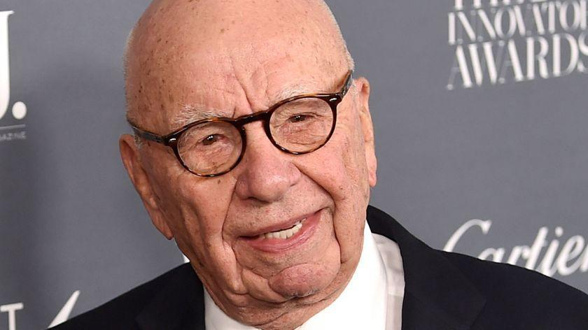 """FILE - In this Wednesday, Nov. 1, 2017, file photo, Fox News chairman and CEO Rupert Murdoch attends the WSJ. Magazine 2017 Innovator Awards at The Museum of Modern Art in New York. Murdoch says Facebook should pay fees to """"trusted"""" news producers for their content. Murdoch, whose companies own The Wall Street Journal, Fox News, the New York Post and other media properties, said Monday, Jan. 22, 2018, that publishers are """"enhancing the value and integrity of Facebook through their news and content but are not being adequately rewarded for those services."""" (Photo by Evan Agostini/Invision/AP, File)"""