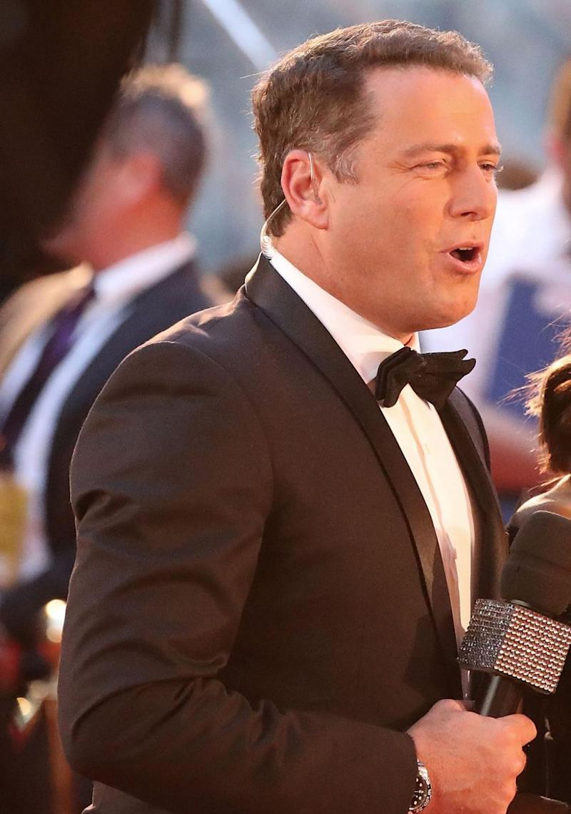 Karl (here at the 2017 Logie Awards) has also recently responded to reports that his girlfriend Jasmine is pregnant. Source: Getty