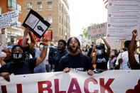 FILE PHOTO: The Black Lives Matter protest in London