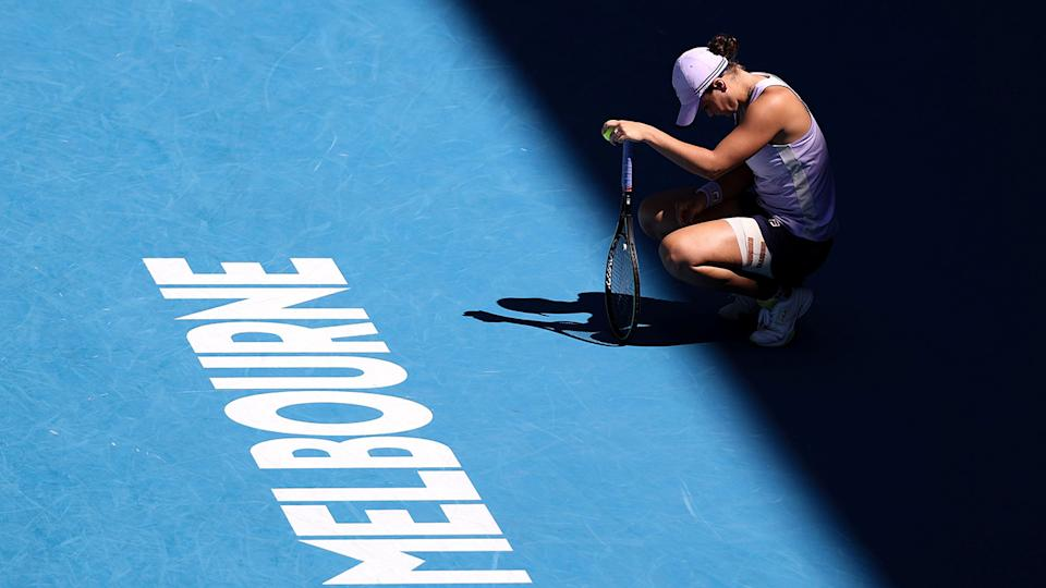 Ash Barty, pictured here during her loss in the Australian Open quarter-finals.
