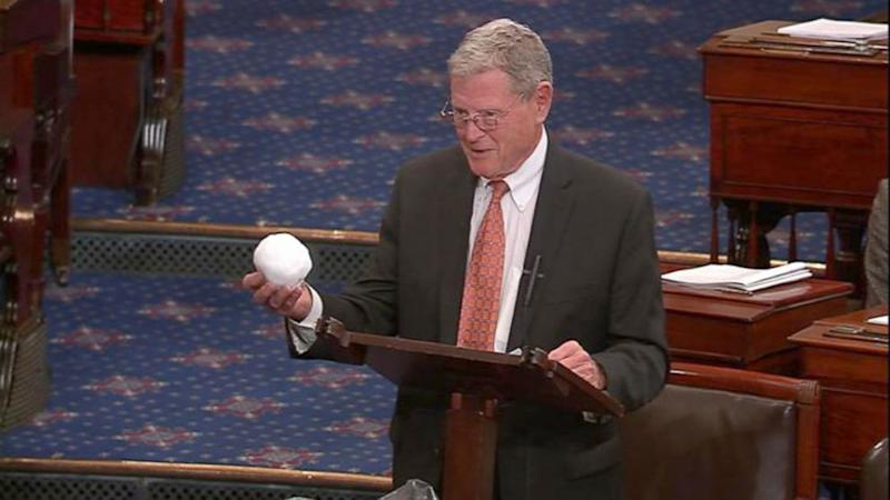 Sen. Jim Inhofe Throws Snowball on Senate Floor in Attempt to Debunk Climate Change
