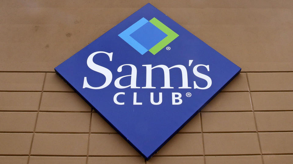 File-This Feb. 23, 2018, file photo shows the company logo of Sam's Club on the facade of a store in Concord, N.H.. Walmart's Sam's Club is teaming up with several health care companies to offer discounts on everyday care its customers might delay or skip because of the cost. Starting early October, Sam's Club members in Michigan, Pennsylvania and North Carolina, will be able to buy one of four bundles of health care services ranging in annual fees from $50 for individuals to $240 for a family of up to six members. The pilot program could potentially be rolled out to members in all the states, says Lori Flees, senior vice president of Sam's Club Health and Wellness. (AP Photo/Charles Krupa, File)