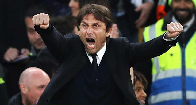 Antonio Conte has the Blues on the cusp of another Premier League crown. (AP Photo)