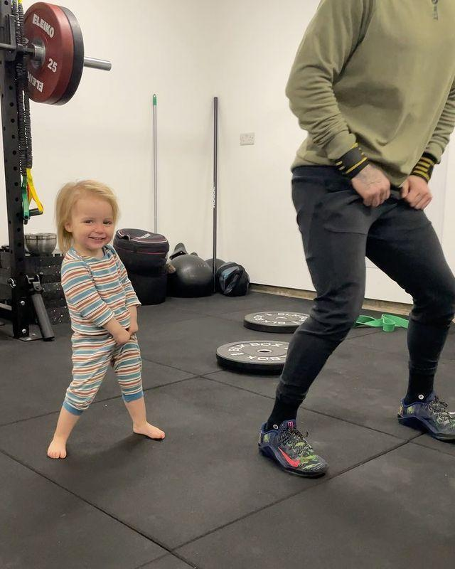 """<p>There's nothing like getting your session done and having a giggle at the same time, is there? Daughter Mia and fiancé Gorka's Friday wiggles are the perfect workout motivation! </p><p><a href=""""https://www.instagram.com/p/CNuK0Kanfgr/"""" rel=""""nofollow noopener"""" target=""""_blank"""" data-ylk=""""slk:See the original post on Instagram"""" class=""""link rapid-noclick-resp"""">See the original post on Instagram</a></p>"""