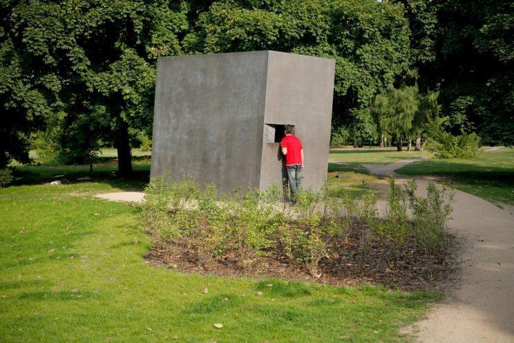 Memorial to the Homosexuals Persecuted under the National Socialist Regime. It was opened in 2008. Supplied photo from the Foundation Memorial to the Murdered Jews of Europe