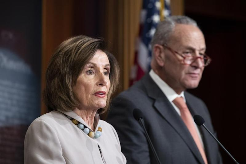 Nancy Pelosi and Chuck Schumer condemned the president's behaviour.