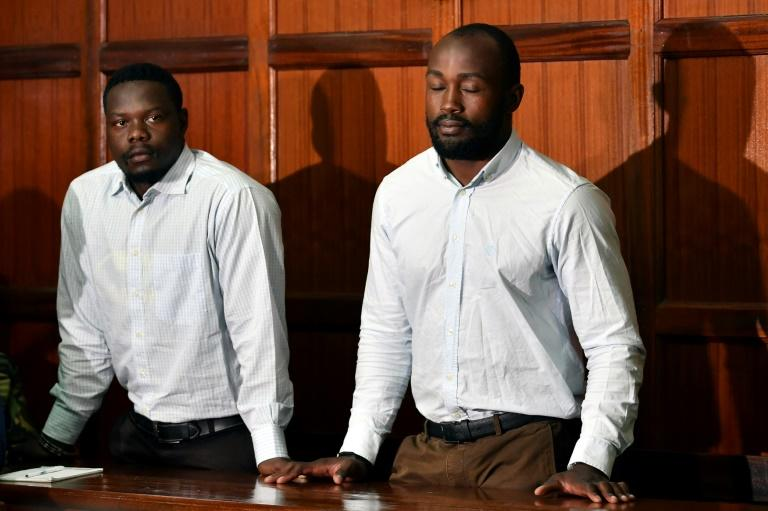Alex Olaba, left, and Frank Wanyama at their trial in Nairobi last August