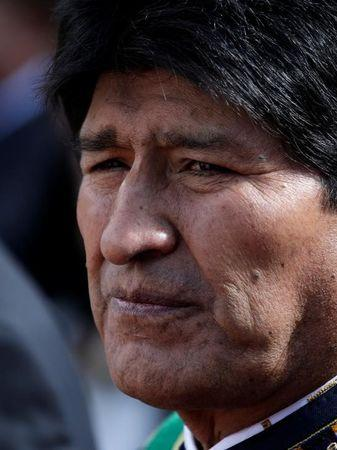 "Bolivia's President Evo Morales is seen during the events commemorating the ""Dia del Mar"" (Day of the Sea)"