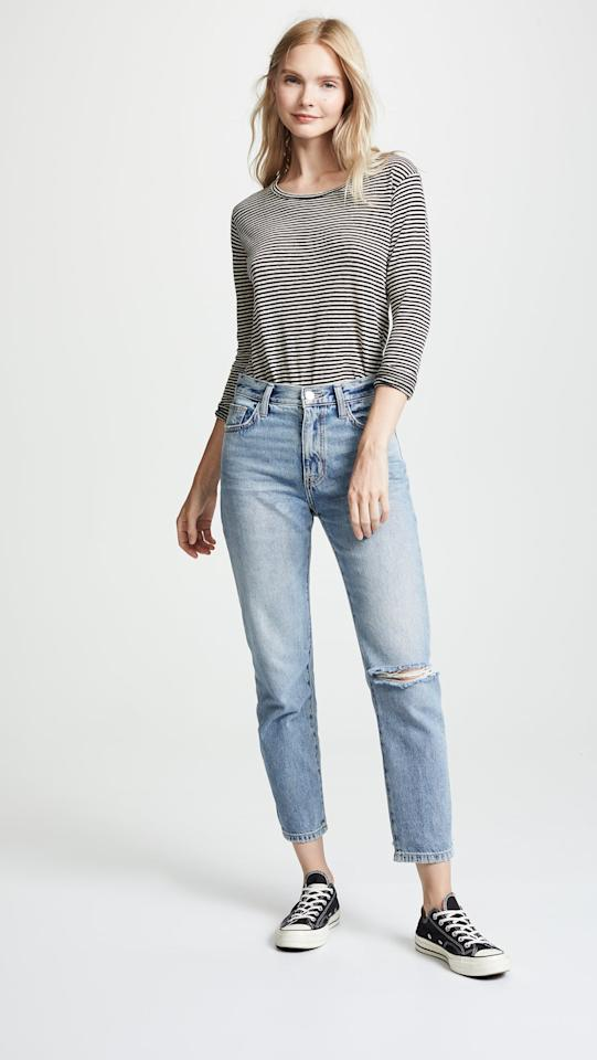 """<p>These <a href=""""https://www.popsugar.com/buy/CurrentElliott-Vintage-Cropped-Slim-Jeans-483428?p_name=Current%2FElliott%20The%20Vintage%20Cropped%20Slim%20Jeans&retailer=shopbop.com&pid=483428&price=80&evar1=fab%3Auk&evar9=46500355&evar98=https%3A%2F%2Fwww.popsugar.com%2Ffashion%2Fphoto-gallery%2F46500355%2Fimage%2F46537021%2FCurrentElliott-Vintage-Cropped-Slim-Jeans&list1=shopping%2Clabor%20day%2Csale%2Csummer%20fashion%2Csale%20shopping&prop13=api&pdata=1"""" rel=""""nofollow"""" data-shoppable-link=""""1"""" target=""""_blank"""" class=""""ga-track"""" data-ga-category=""""Related"""" data-ga-label=""""https://www.shopbop.com/vintage-cropped-slim-jeans-current/vp/v=1/1553848941.htm?folderID=15382&amp;fm=other-shopbysize-viewall&amp;os=false&amp;colorId=127D9"""" data-ga-action=""""In-Line Links"""">Current/Elliott The Vintage Cropped Slim Jeans</a> ($80, originally $268) are going to be your go-to weekend pair.</p>"""