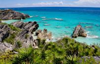"""<a href=""""https://www.cntraveler.com/destinations/bermuda?mbid=synd_yahoo_rss"""" rel=""""nofollow noopener"""" target=""""_blank"""" data-ylk=""""slk:Bermuda"""" class=""""link rapid-noclick-resp"""">Bermuda</a> has always been a long weekend destination for East Coasters, with its pink beaches and year-round warm weather (and, crucially, 2.5-hour flight time from New York City). Amid the pandemic, however, it's become even more appealing—thanks, in part, to the country's <a href=""""https://www.cntraveler.com/story/a-guide-to-the-caribbean-islands-reopening-this-summer?mbid=synd_yahoo_rss"""" rel=""""nofollow noopener"""" target=""""_blank"""" data-ylk=""""slk:intensive COVID-19 screening"""" class=""""link rapid-noclick-resp"""">intensive COVID-19 screening</a> for travelers and low case counts. Visitors are required to fill out a travel authorization form and show a negative COVID test upon arrival, followed by a $75 rapid COVID test at the airport, and another on day four of your trip. Make the sprawling <a href=""""https://www.cntraveler.com/hotels/bermuda/hamilton/rosewood-tucker-s-point-bermuda?mbid=synd_yahoo_rss"""" rel=""""nofollow noopener"""" target=""""_blank"""" data-ylk=""""slk:Rosewood Bermuda"""" class=""""link rapid-noclick-resp"""">Rosewood Bermuda</a>, which has a prime location in Tucker's Point, your home base; the resort is offering 35 percent off nightly rates, and those who book a fifth night get an additional $100 credit to spend on amenities like the spa or dinner at on-site restaurant Sul Verde. If staying anchored to the resort isn't your thing, make time to hike or bike the 22-mile Bermuda Railway Trail national park, book a morning diving session with PADI-certified Blue Water Divers, or swing by beaches like <a href=""""https://www.cntraveler.com/story/best-beaches-in-bermuda?mbid=synd_yahoo_rss"""" rel=""""nofollow noopener"""" target=""""_blank"""" data-ylk=""""slk:Horseshoe Bay"""" class=""""link rapid-noclick-resp"""">Horseshoe Bay</a> or Blue Hole Park—the latter draws Bermudians for its cliff jumping and dramatic caves. While fall does hug the"""