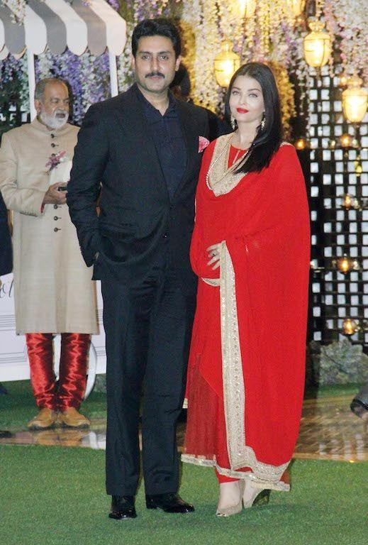 Aishwarya is a natural beauty and doesn't need too much to steal the show at any gathering. Perhaps, that is why she puts so less effort at times. At the Ambanis this month, she rolled up in a blood-red basic floor-length <em>churidar-kameez</em>. We have seen red too many times on Aishwarya and wish for her to take a break from this color. Again, Indian wears can be fun also, this one was too boring. And, what would we not do to have her change that repetitive hairstyle a little.