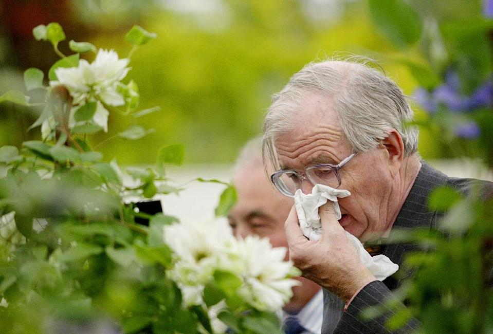 """""""Halting sneezing via blocking the nostrils and mouth is a dangerous manoeuvre, and should be avoided"""" (AFP Photo/JIM WATSON)"""