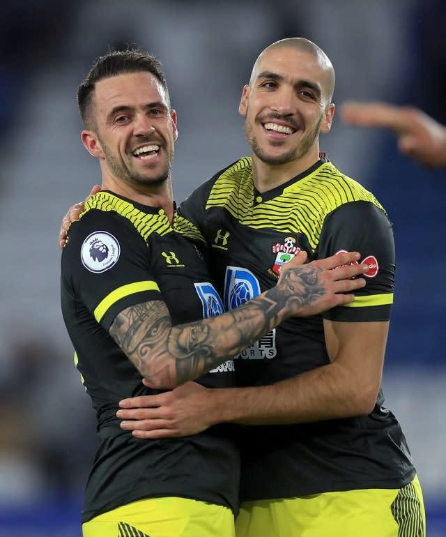 Southampton's Danny Ings (left) celebrates with Oriol Romeu (Mike Egerton/PA)