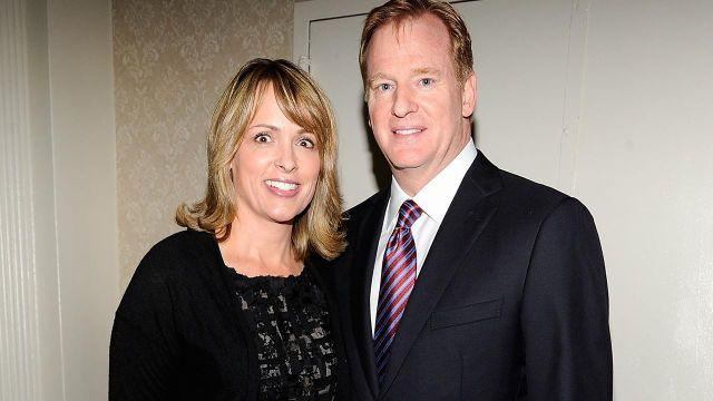 Roger Goodell pictured with wife Jane. Pic: Getty