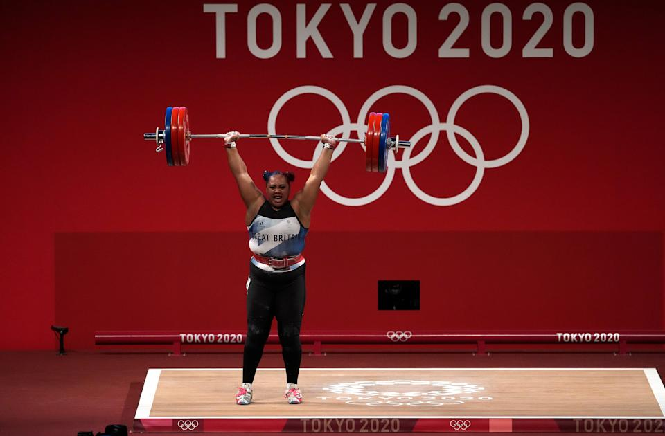 Emily Campbell's 161kg clean-and-jerk snared sliver (Martin Rickett/PA) (PA Wire)