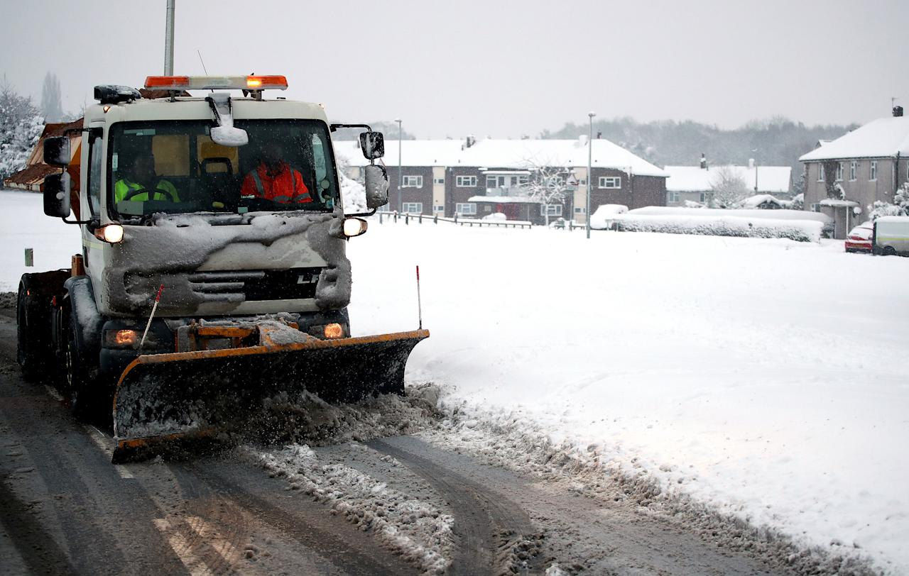 <p>More than a foot of snow fell in Sennybridge, which saw 32cm (12.5 inches) on Sunday. (PA) </p>