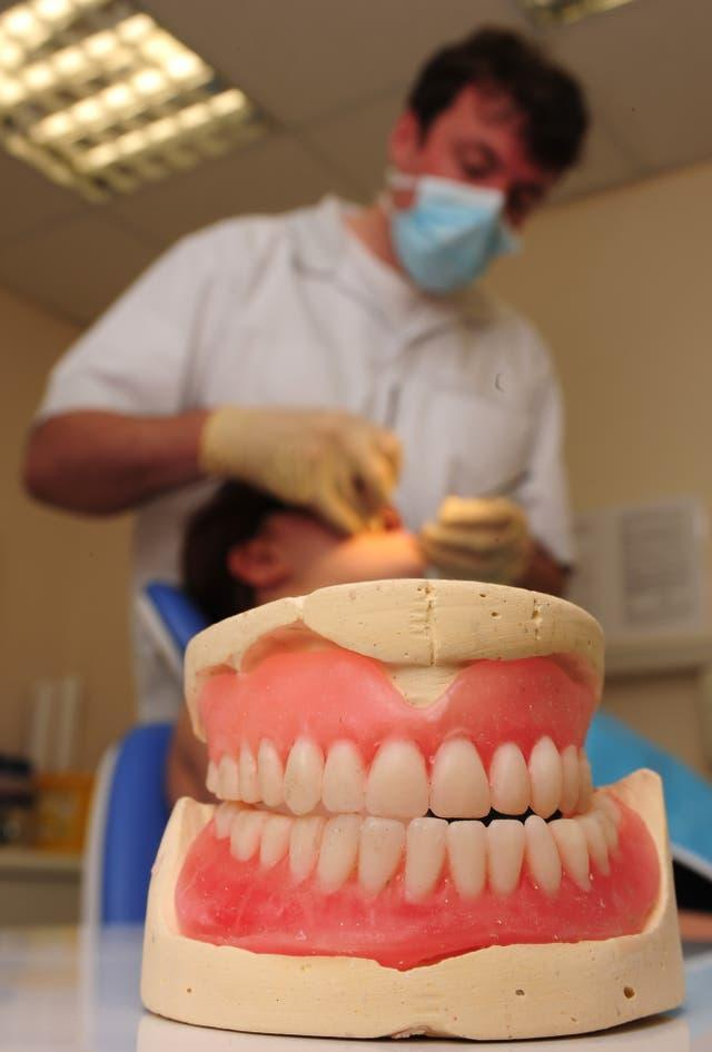 General view of dentist at work