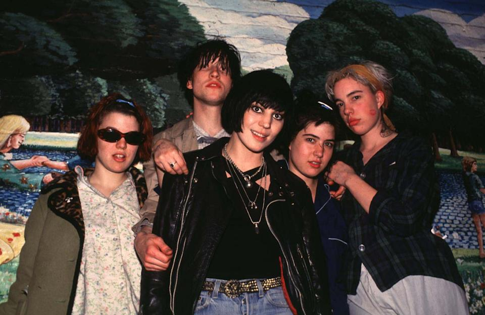 Bikini Kill and Joan Jett in 1994. (Photo: Steve Eichner/WireImage)