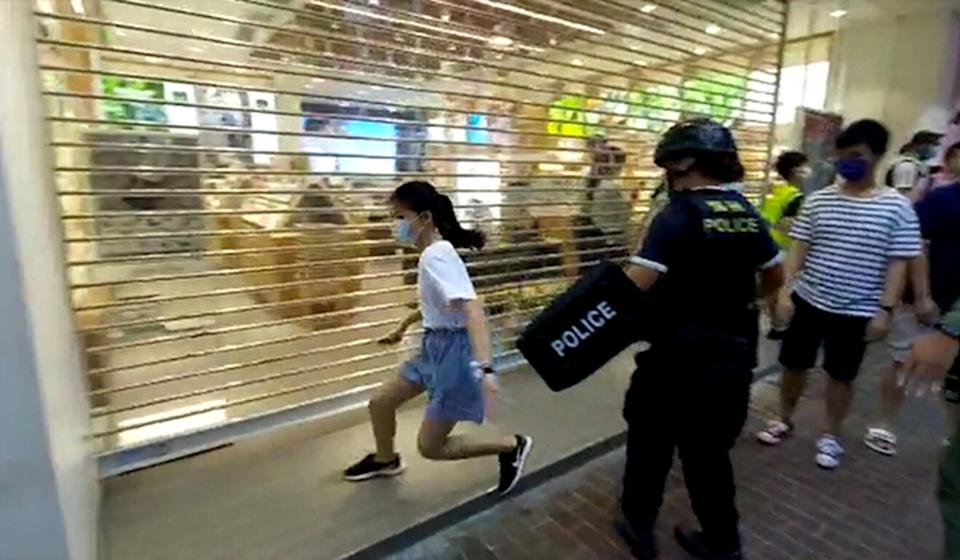 The incident in Mong Kok was captured on video. Photo: Handout