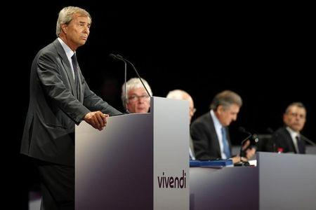 Vincent Bollore, the current vice-chairman of Vivendi and largest shareholder, attends the company's shareholders meeting in Paris