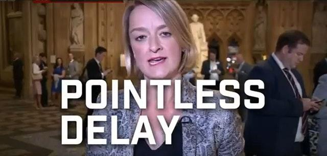 Laura Kuenssberg saying 'pointless delay to Brexit'