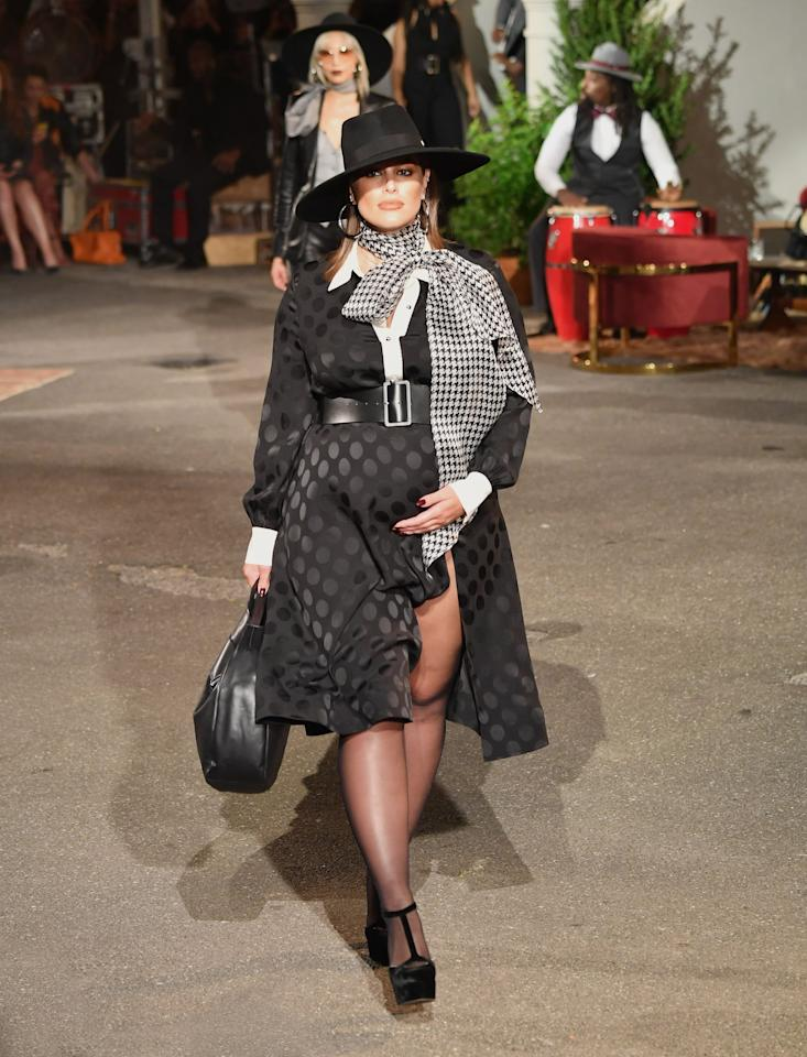 <p>Ashley Graham, who is pregnant with her first child, walked the Tommy Hilfiger x Zendaya Fall 2019 show and looked fiercer than ever. Hijabi model Halima Aden also walked the show, which took place at the Apollo.</p>