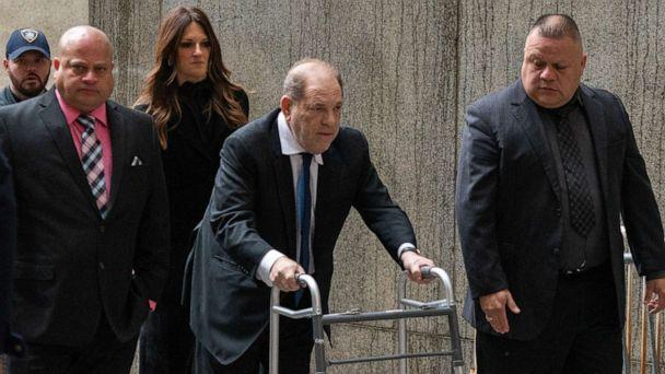 PHOTO: Movie producer Harvey Weinstein arrives at criminal court on Dec. 11, 2019 in New York City. (David Dee Delgado/Getty Images)