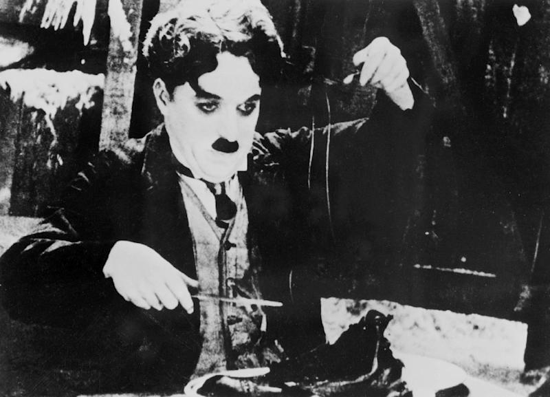 "Charlie Chaplin in the 1925 film ""The Gold Rush"" (AFP Photo/)"