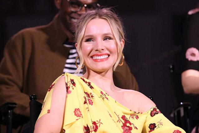 Kristen Bell promotes <em>The Good Place</em> at Universal Studios on May 4 in Universal City, Calif. (Photo: Leon Bennett/Getty Images)