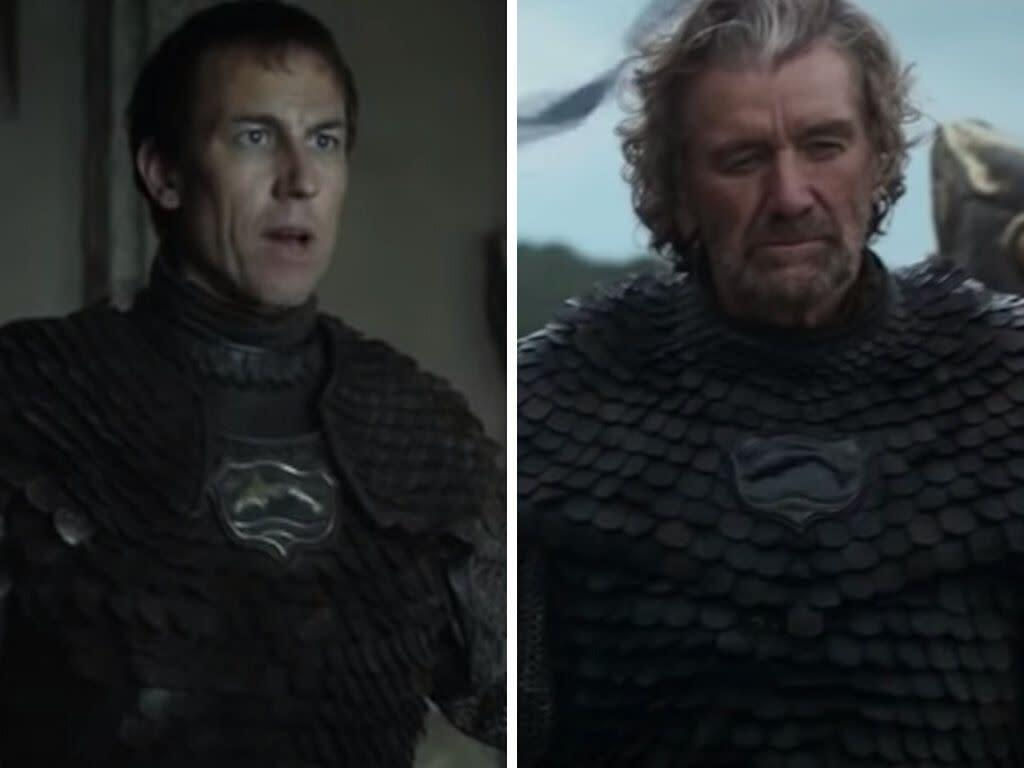 Edmure Tully (left); the Blackfish (right). (Photo: HBO)