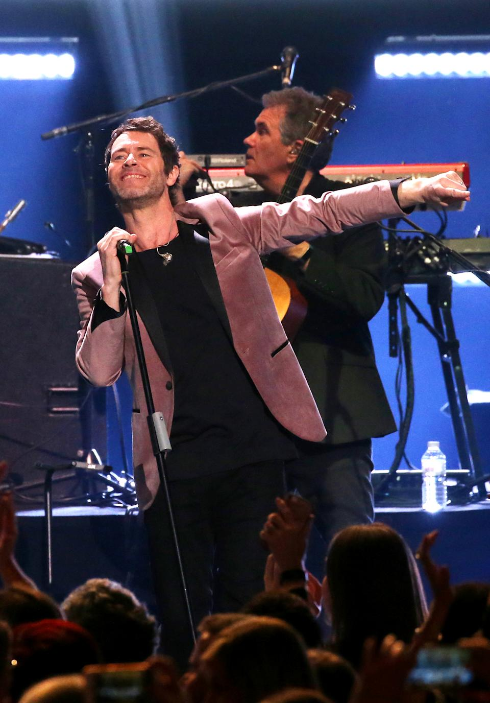 Howard Donald of Take That performs at the Teenage Cancer Trust Concert, Royal Albert Hall, London. PRESS ASSOCIATION. Picture date: Thursday March 28, 2019. See PA story SHOWBIZ TCT. Photo credit should read: Isabel Infantes/PA Wire