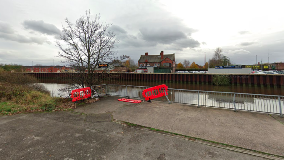 The pensioner was pushed into the River Mersey on Wharf Road, Warrington. (Google)