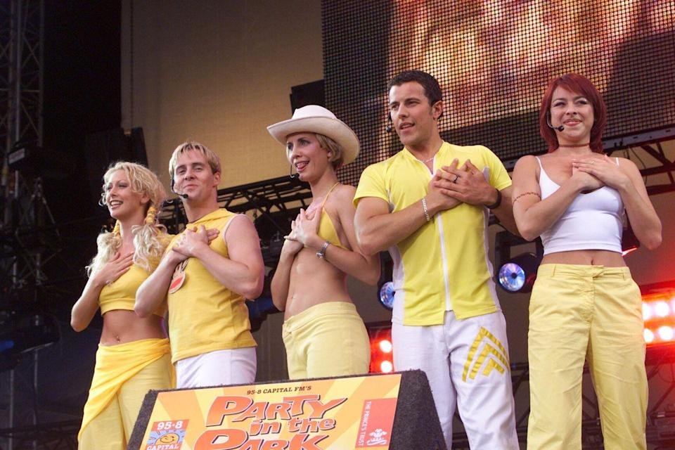 """<p>British dance group Steps did the hilarious line-dancing anthem """"5,6,7,8"""" in which the chorus includes the phrase """"my boot-scootin' baby."""" It's deeply annoying and yet you won't be able to unhear it. They were around from 1997 to 2001, and seem at least partially inspired by the perennial Rednex dance hit """"Cotton Eye Joe,"""" which is a really sad sentence to type. </p>"""