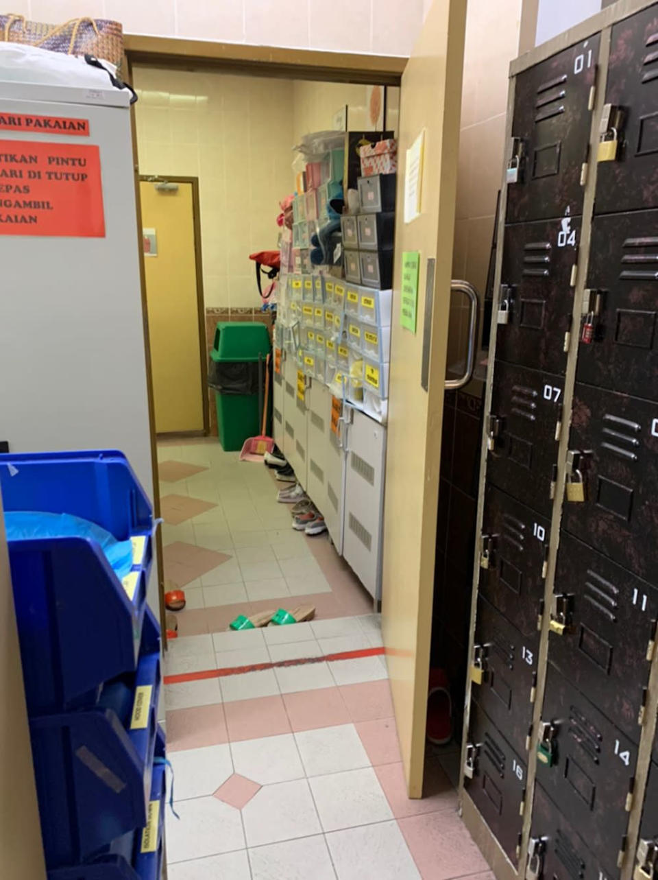 The small area for the surgical staff in the smaller operation theatre in Penang General Hospital that handles surgeries for non-Covid patients.
