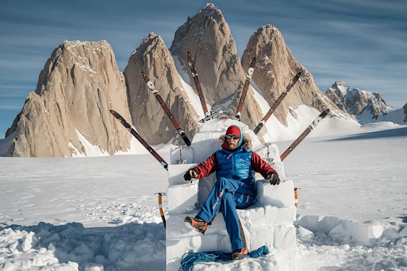 Adventurer Leo Houlding, 39, successfully conquered Spectre - a jagged mountain peak in Antarctica, 450km south of the South Pole. (SWNS)