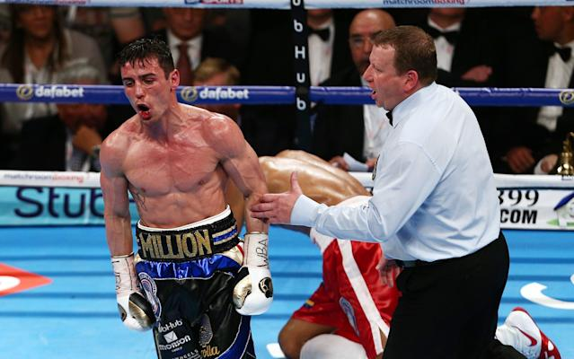 <span>Crolla beat Ismael Barroso at the first defence of his title</span> <span>Credit: rex </span>