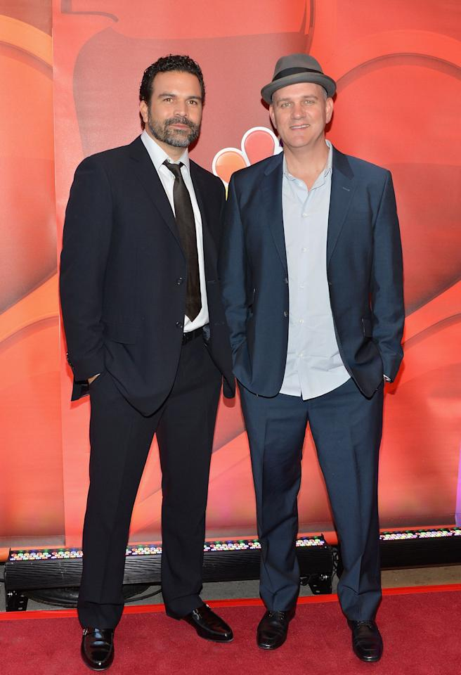 NEW YORK, NY - MAY 13:  Actors Ricardo Chavira and Mike O'Malley attend 2013 NBC Upfront Presentation Red Carpet Event at Radio City Music Hall on May 13, 2013 in New York City.  (Photo by Slaven Vlasic/Getty Images)