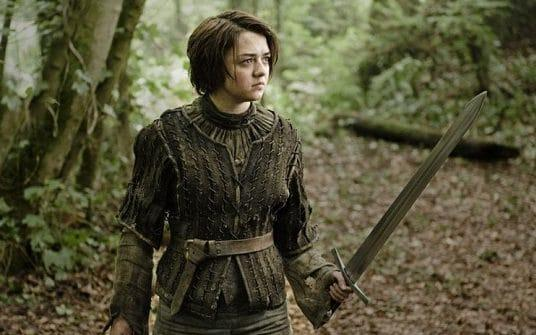 Maisie Williams as the young assassin Arya Stark